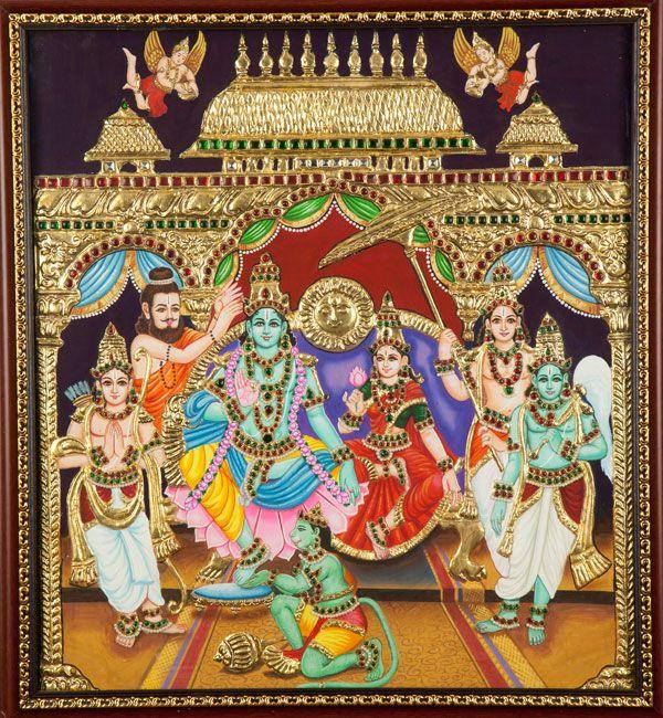 Tanjore paintings-Rama Pattabhishakam