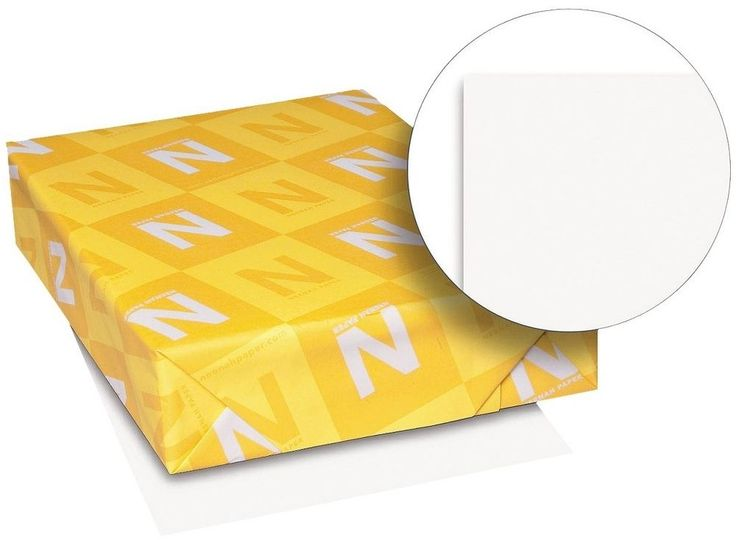 Neenah Paper Exact Index Card Stock, 110 lbs - White (250 Sheets Per Pack) #Neenah