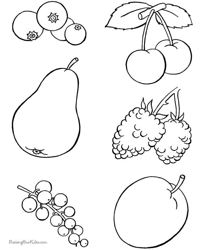food coloring page to print and color