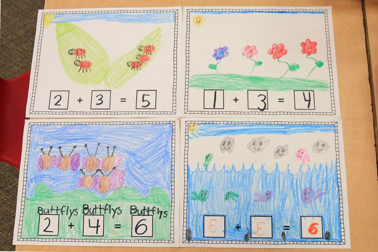 Addition Story Templates to Go With Book, If You Were a Plus Sign (from Mrs. Ricca's Kindergarten; free)