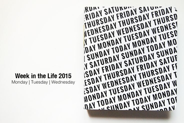 WEEK IN THE LIFE 2015 | Monday + Tuesday + Wednesday — Celine Navarro