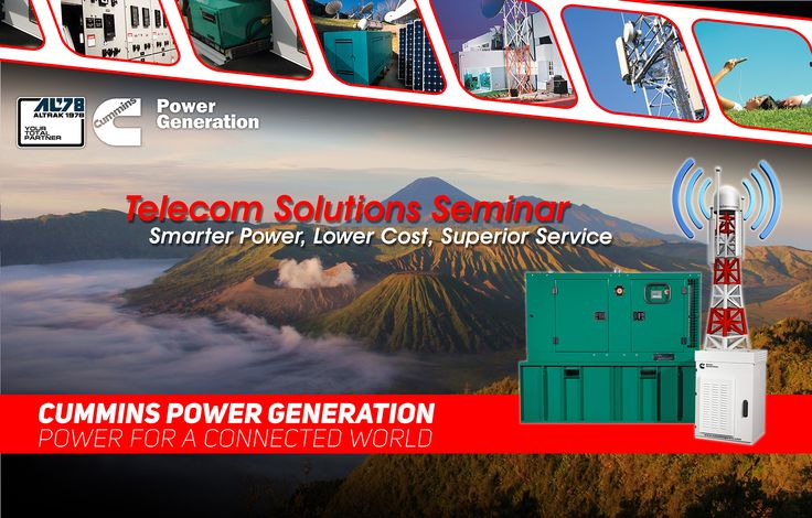Backdrop Cummins Power Generation Telecom Power Solution