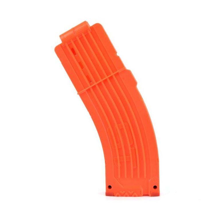 WORKER Toy 15Darts Plastic Clip Magazine For Nerf Replacement Accessory Toy Orange