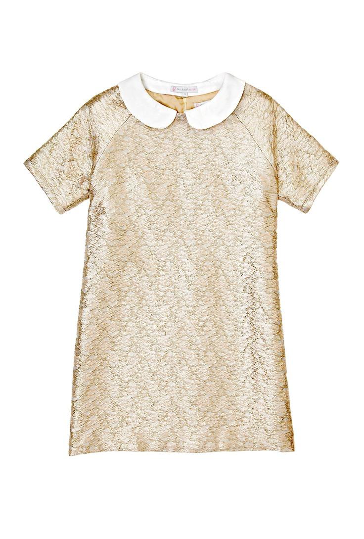 Gold Brocade Dress with Detachable Collar by Paul & Joe Sist