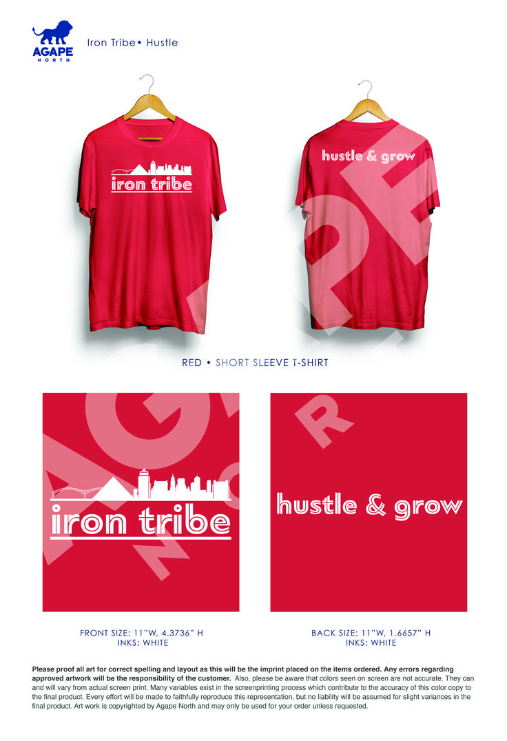 Custom Apparel that Gives Back. #IronTribe #fitness #Memphis #Hustle #Grow