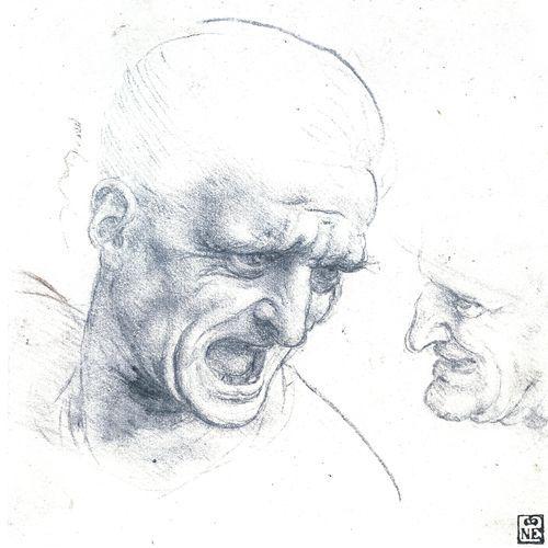 Studio per la testa di due guerrieri - Leonardo - Opere d'Arte su Tela - Listino prodotti - Digitalpix - Canvas - Art - Artist - Painting