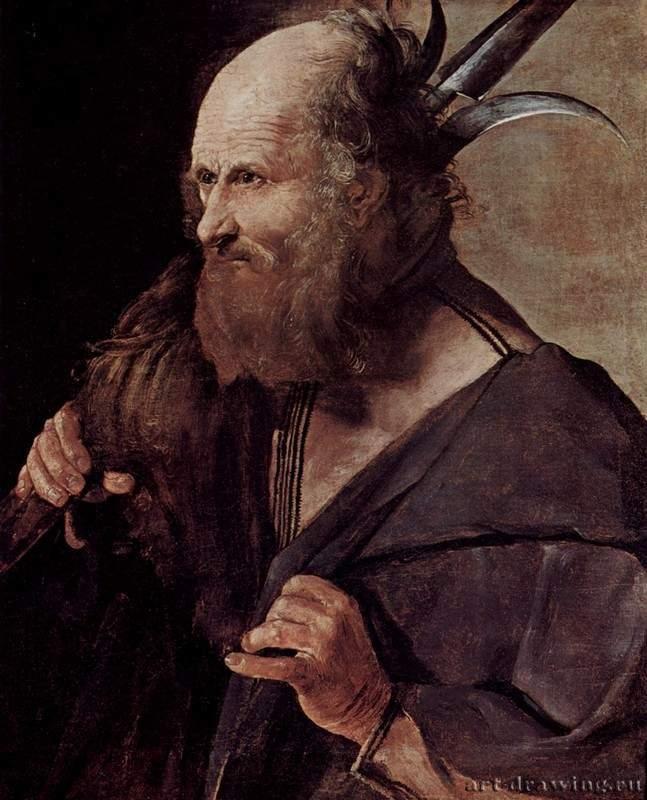 """Georges de La Tour, Апостол Иуда Иаковлев, 1624-1650, Франция, Альби. Музей Тулуз-Лотрека Из цикла """"Двенадцать апостолов и Христос"""", почти все картины находятся в Альби, датировка ненадежна"""