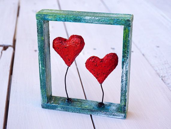Love Heart Decor Heart Wall Art Hearts Frame Paper Mache