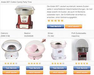 Vergleichstabelle unserer Testsieger – Zuckerwattemaschine › popcornmaschine-zuckerwattemaschine.com