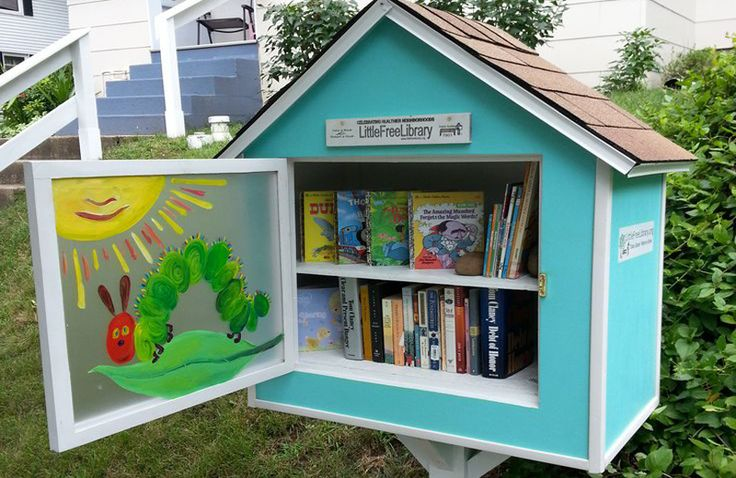 Learn how to make your own Little Free Library here. 1. 2. 3. 4. 5. 6. 7. 8. 9. 10. 11. 12. 13. 14.  15. 16. 17. 18. 19. 20. 21. 22. Related