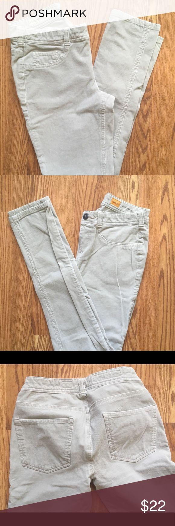 Corduroy Leggings Khaki corduroy leggings from Anthropologie, 97% cotton, 3% Spandex Anthropologie Pants Leggings