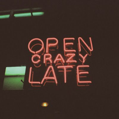 Open Crazy Late Sign | Neon Lights | Light Up storefront window | Shop Sign | Nocturnal | Munchies | Insomnia