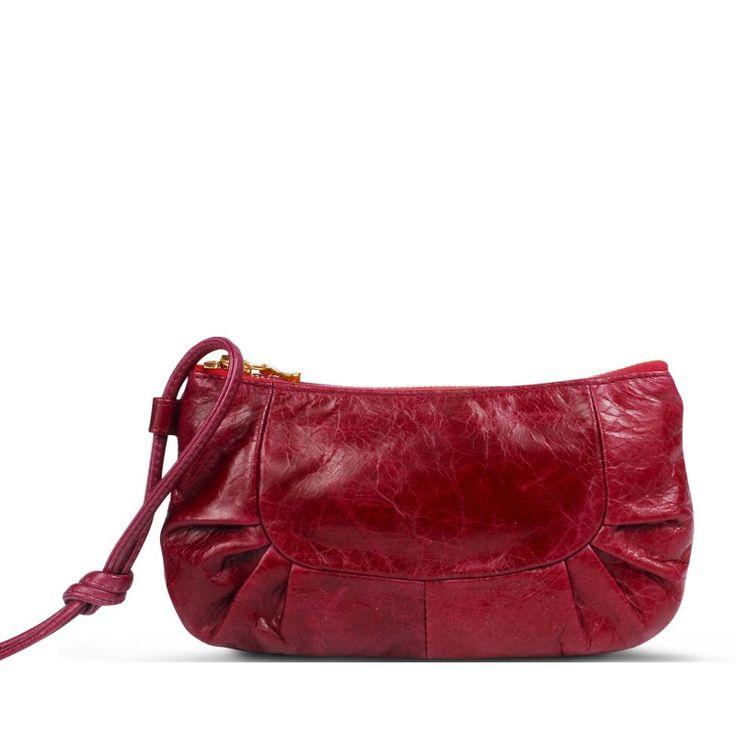 Izabel Carmin pleated leather clutch - Brontibay