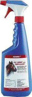 Adam's Fly Spray & Repellent for Horses (32 oz) by Adam's. $16.99. For horses kills and repels face flies, stable flies, house flies, mosquitoes, gnats, mites, chiggers, lice and ticks. Contains oil of Aloe, lanolin and other emollients to moisturize skin and produce a healthy looking, shiny show coat. Adam's Fly Spray & Repellent for horses kills and repels face flies, stable flies, house flies, mosquitoes, gnats, mites, chiggers, lice and ticks. Contains oil o...