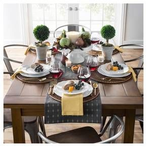 Our Fall Table Setting & Décor Collection is just the right pairing of dinnerware and tabletop décor. This mix of modern and farmhouse creates an elegant, inviting space for your friends and family to share a meal. Enjoy this tablescape that is perfect for your fall and holiday get-togethers.
