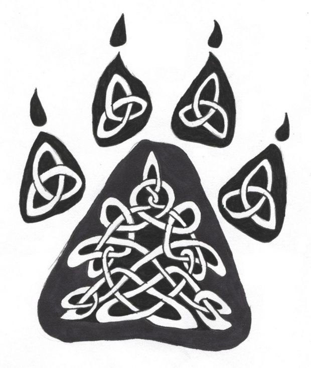 celtic wolf tattoo | Celtic Wolf Paw Tattoo Design by Mercury Dragon