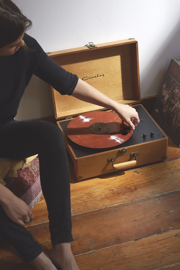 Wooden record player