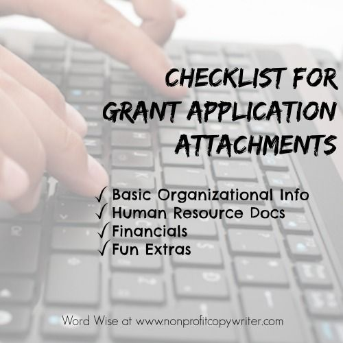 Checklist Of Grant Application Attachments: Get Organized And Save Time