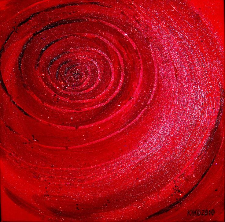 Kirsten Kohrt - In the eye of the volcano structure/ acrylic on canvas... Credit: KIRSTEN KOHRT  (Click to Support Artist)