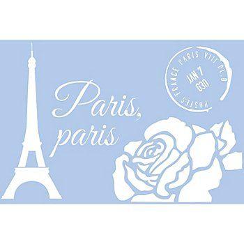 Gro E Buttinette Schablone Paris Aus Kunststoff Gr E