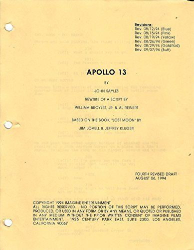92 best collectibles of 90s images on pinterest apollo 13 1994 original fourth revised draft script august 06 1994 fandeluxe Images