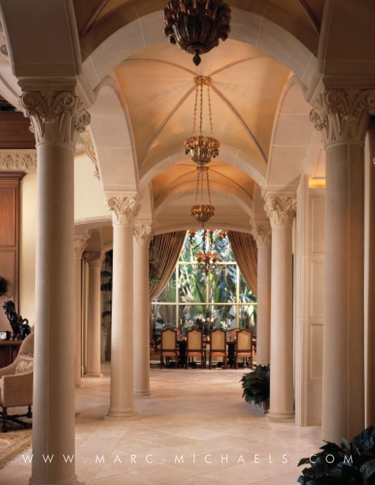 23 best images about classic mediterranean homes on for Columns in houses interior