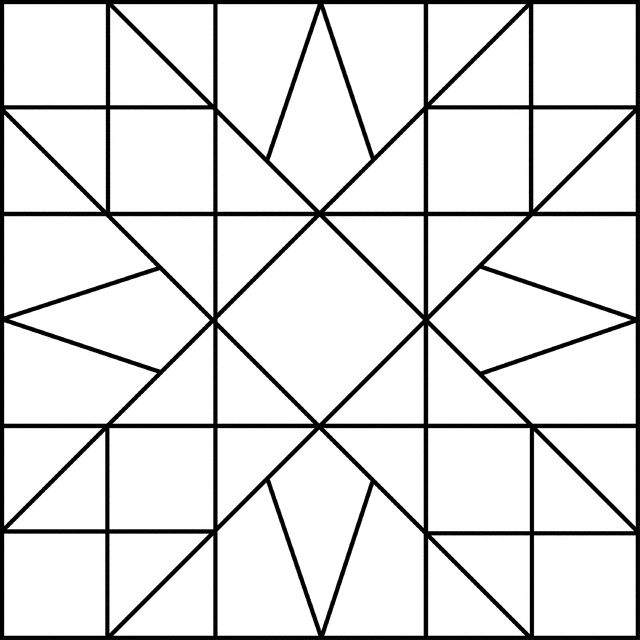 Pretty Black And White Quilt Block Patterns Inspirations Quilt 640x640 gif Barn quilt designs Barn quilt patterns Painted barn quilts