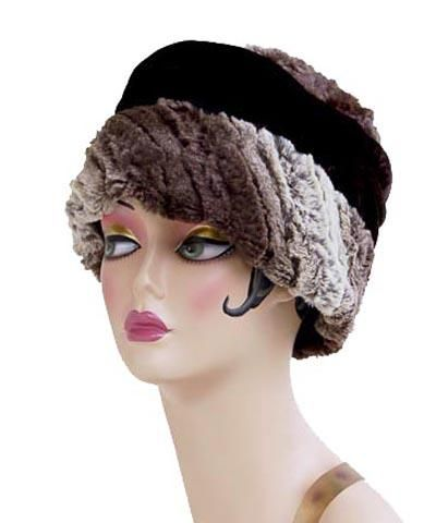 2e156802dc10a4 Ana Cloche Hat Style - Luxury Faux Fur Chinchilla Brown - Medium / Hat Only  - Hats - Pandemonium Millinery #pandemoniummillinery #shoppandemonium  #gofaux ...