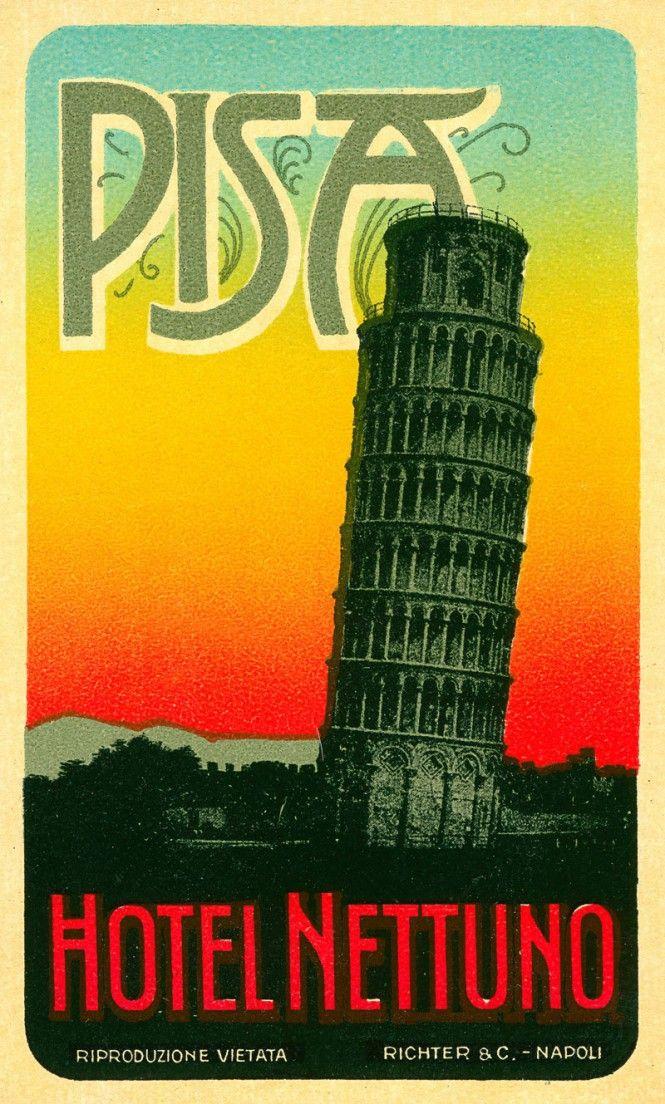 Pisa, etichette da valigia - luggage labels