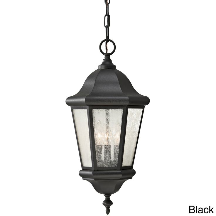 Feiss 3 - Light Pendant, Corinthian Bronze (Black - Assembly Required) (Stainless Steel)