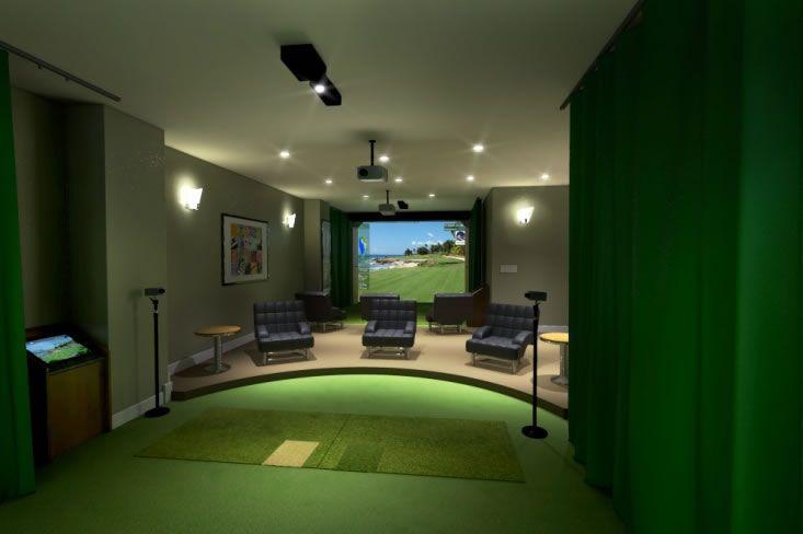 Optishot golf simulator review golf simulator room for Golf simulator room dimensions