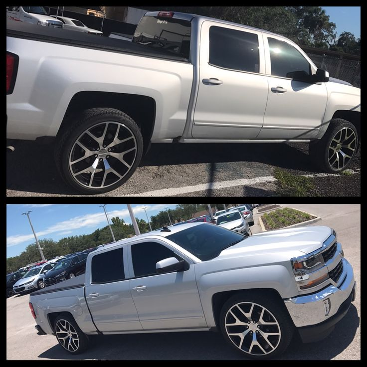 2017 Silverado 1500 Slammed On 24s 2 4 Drop Kit From Mcgaughy