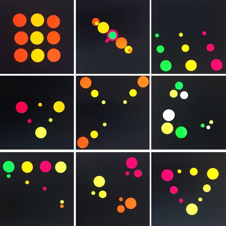 Giocare con le regole e con gli equilibri. Comprendere cosa si vuole comunicare con l'immagine non è cosa semplice. Nove tondi di colori e d...