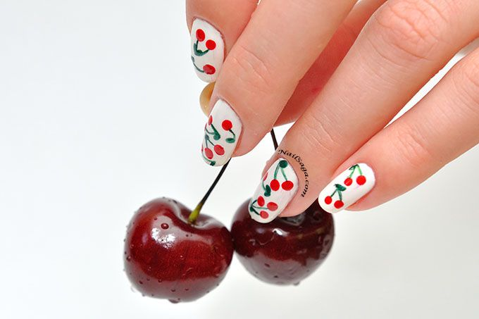 Cheery nail design