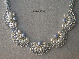 Pearl filigree Jaycee Pattern http://lesperlescrystaldoz.blogspot.be/search/label/Collier