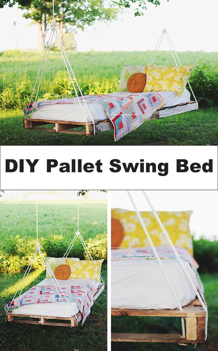 523 best pallet projects images on pinterest woodworking for Outdoor pallet swing bed