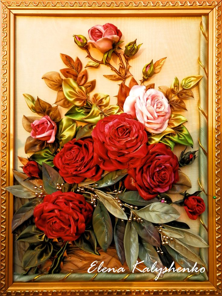 Розы с лавром (автор Елена Калышенко 2014 год)