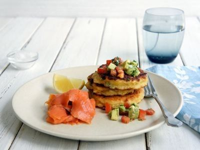 Feta and Corn Fritters recipe