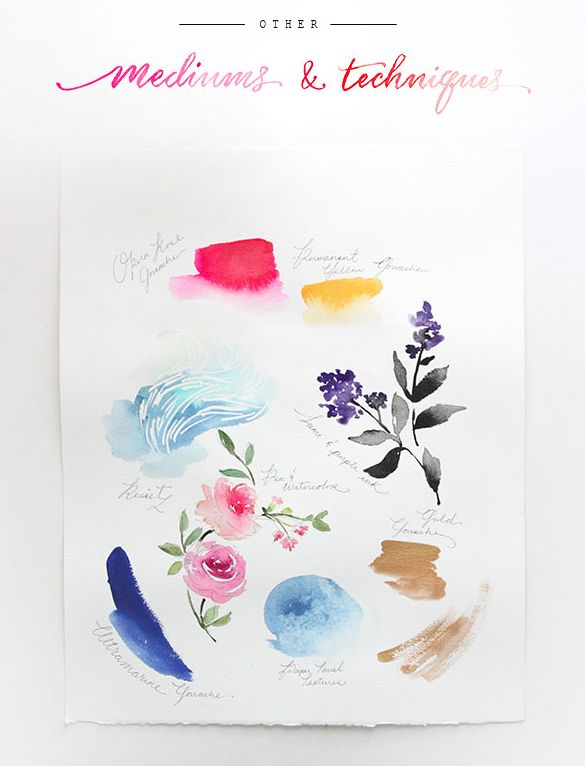 watercolor tutorial part 5: mediums and techniques - The Alison Show