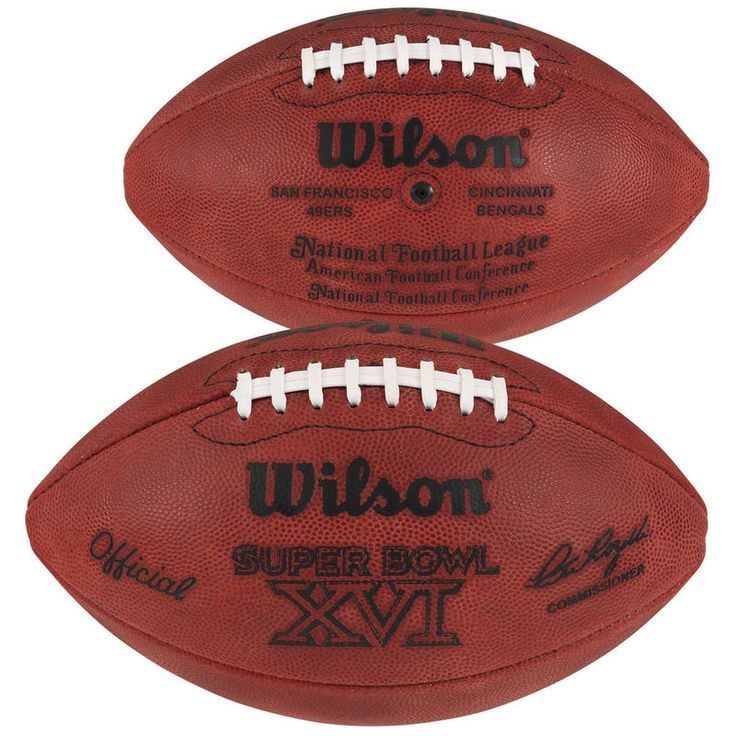 Super Bowl XVI Wilson Official Game Football