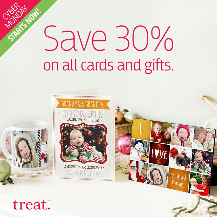 Start crossing names off your holiday list at our biggest sale yet. Save 30% on all cards and gifts by using code GIFT30 at checkout. Ends 12/4. #cyberMonday
