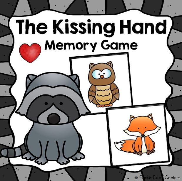 The Kissing Hand Memory Game {FREE}.  Fun game for Pre-K and Kindergarten!