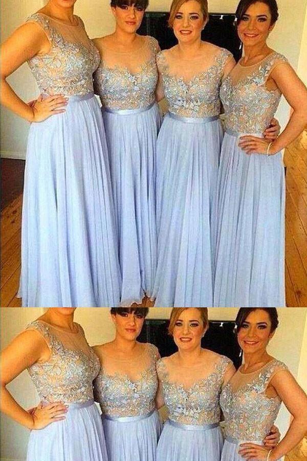 f51e7abd194 Outlet Cute Light Blue Bridesmaid Dress