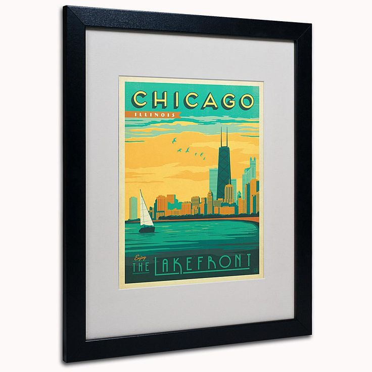 "Home Marketplace Anderson Design Group ""Chicago II"" Matted Framed Art"