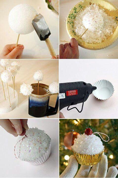 Cupcake ornaments diy