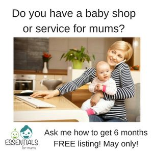 Celebrating 6 months in business and Mother's Day of course, Essentials for mums is giving for selected shops with amazing products or services a spot on our directory and shop by boutique page. Send us a msg if interested. This offer is for MAY ONLY! 😘