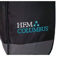 Another example of embroidery this time shown on a sport shoe tote bag.