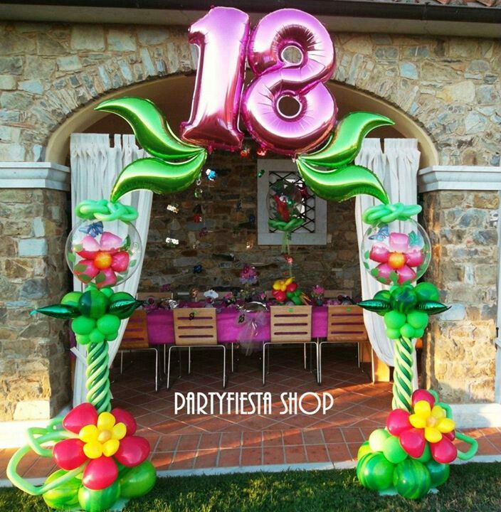 18th Birthday Balloon Arch Balloons Balloonarch Party Decoration