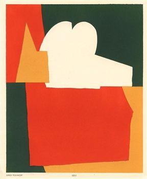 Serge Poliakoff pochoir | Temoignages pour l'art abstrait