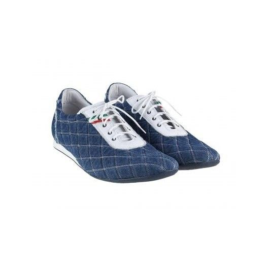 Pánske kožené športové topánky modré PT122 - manozo.hu
